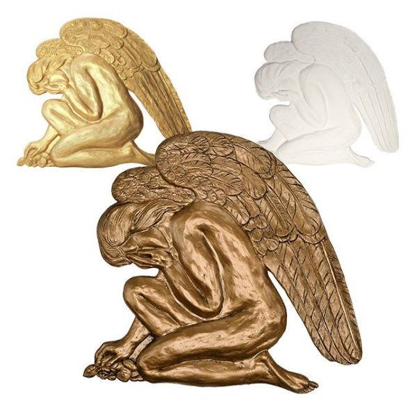 anioł płaskorzeźba