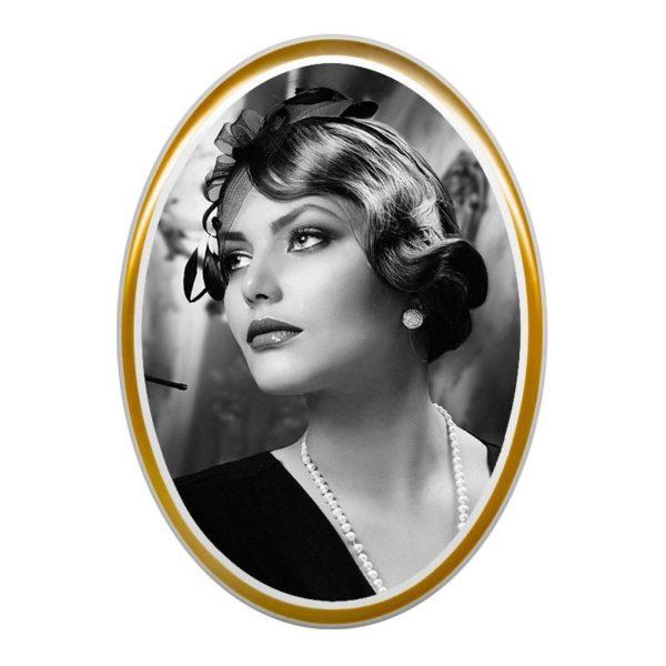 zdjęcie czarno białe złoty pasek