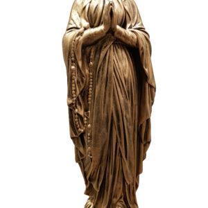Matka Boża Różańcowa figura nagrobna