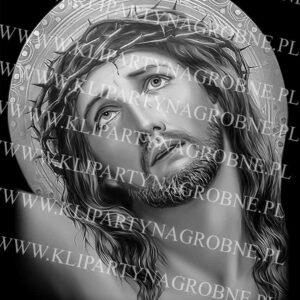 Głowa Jezusa na krzyżu grawer