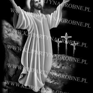Jezus grawer na nagrobek