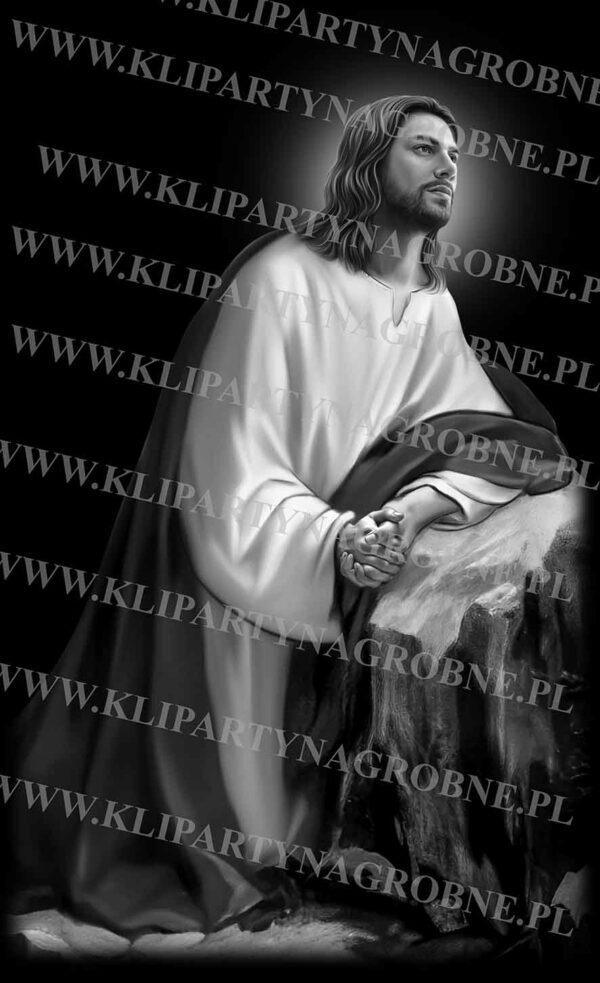 Jezus w Ogrójcu grawer na nagrobek