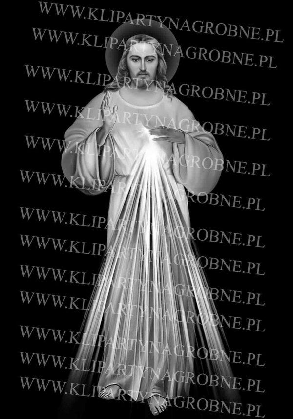 Grawer na nagrobku Jezus Miłosierny