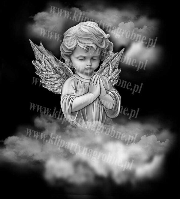 Anioł grawer na nagrobek