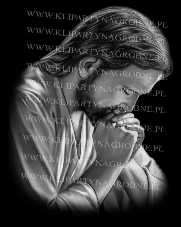 Jezus Modlący się grawer w kamieniu