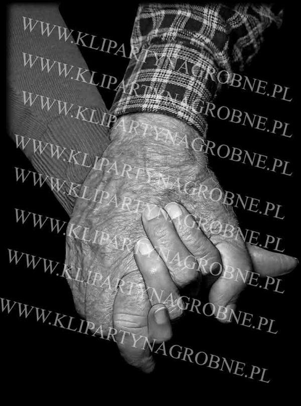 Grawer na nagrobek złączone ręce